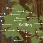 Landkarte vom Solling